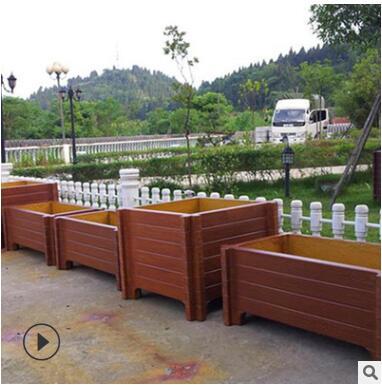 景观工程仿木花箱 道路隔离仿木花箱
