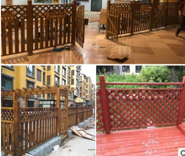 防腐木护栏室外别墅庭院木栅栏