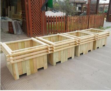 防腐木花箱 户外景观花箱 博涵5公园种植箱绿化种植箱