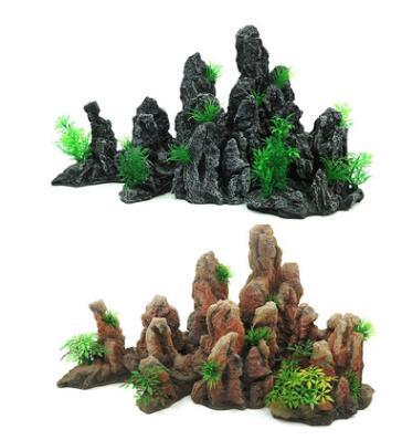 树脂工艺品造景青龙石 水族造景假山 石头山