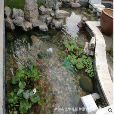 深圳景观鱼池假山塑石水景喷泉水净化过滤循环系统