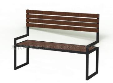 户外带扶手靠背景观公园小区道路休闲休憩等候座椅