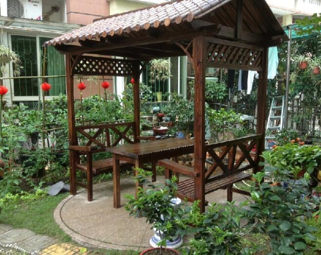 木亭子户外花园庭院实木凉亭