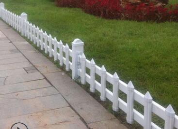 城市锌钢绿化带草坪护栏 pvc草地围栏厂家