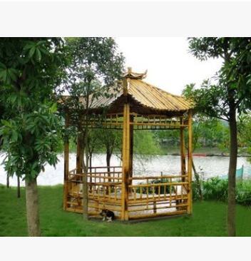 竹牌楼 竹建筑 园林景观建设