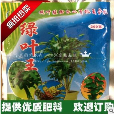 花卉绿叶王肥料橡皮树发财树龟背竹巴西木文竹绿萝200克