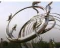 不锈钢雕塑大型园林景观小品城市广场艺术仿真雕塑 (36播放)